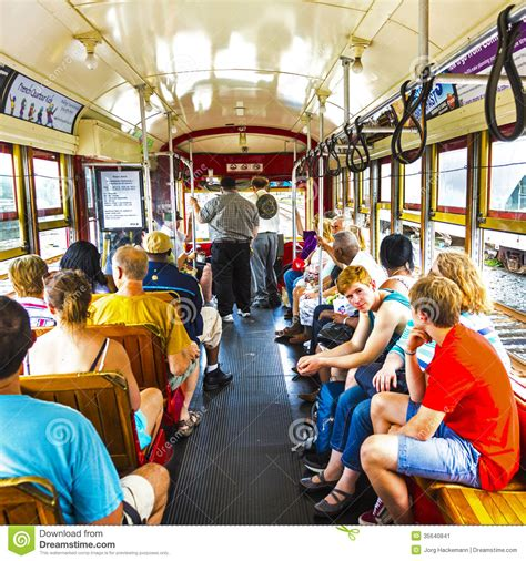 People Travel With The Famous Old Street Car St
