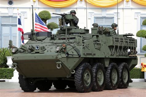 Army receives US Strykers