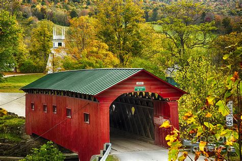 Scenic Covered Bridge of West Arlington Photograph by