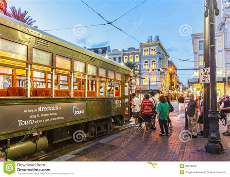 People Travel With The Famous Old Streetcar Editorial